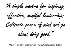 Mindful leadership quote